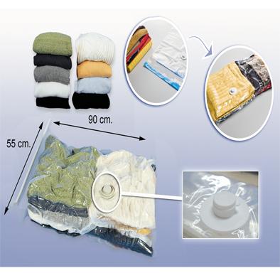 Ahorrar espacio en el armario con bolsas guarda ropa al vacio