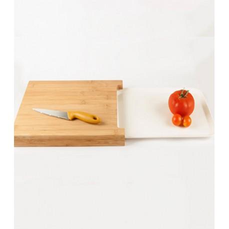 tabla de cortar con bandeja