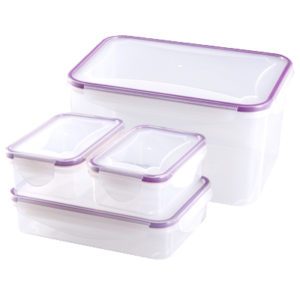 SET DE 4 RECIPIENTES DE PLASTICO HERMETICOS