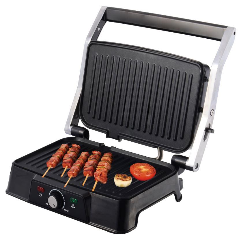 Multi grill apertura 180 grados jocca for Cocinar 180 grados